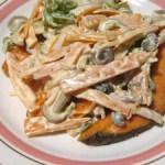 鮭のマヨネーズソースがけ