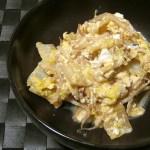 白菜ともやしの卵とじ