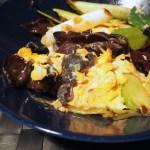 【しろくま旦那レシピ】きくらげと卵の炒め物