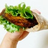 サワー種でライ麦ピタパンを作った!ファラフェルサンドが最高ダ!!!