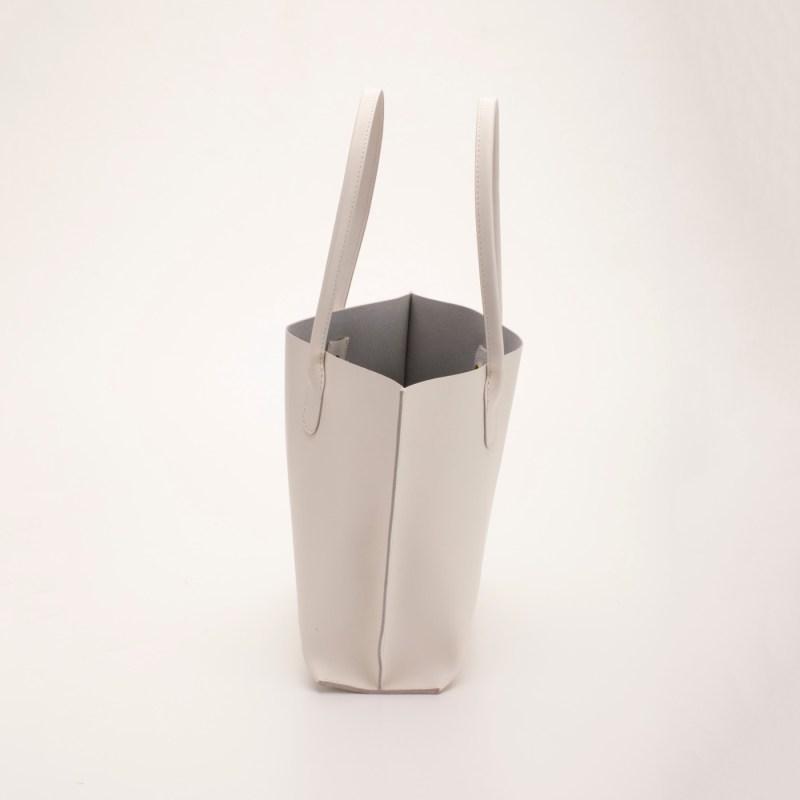 一枚革トートバッグA4 ホワイト