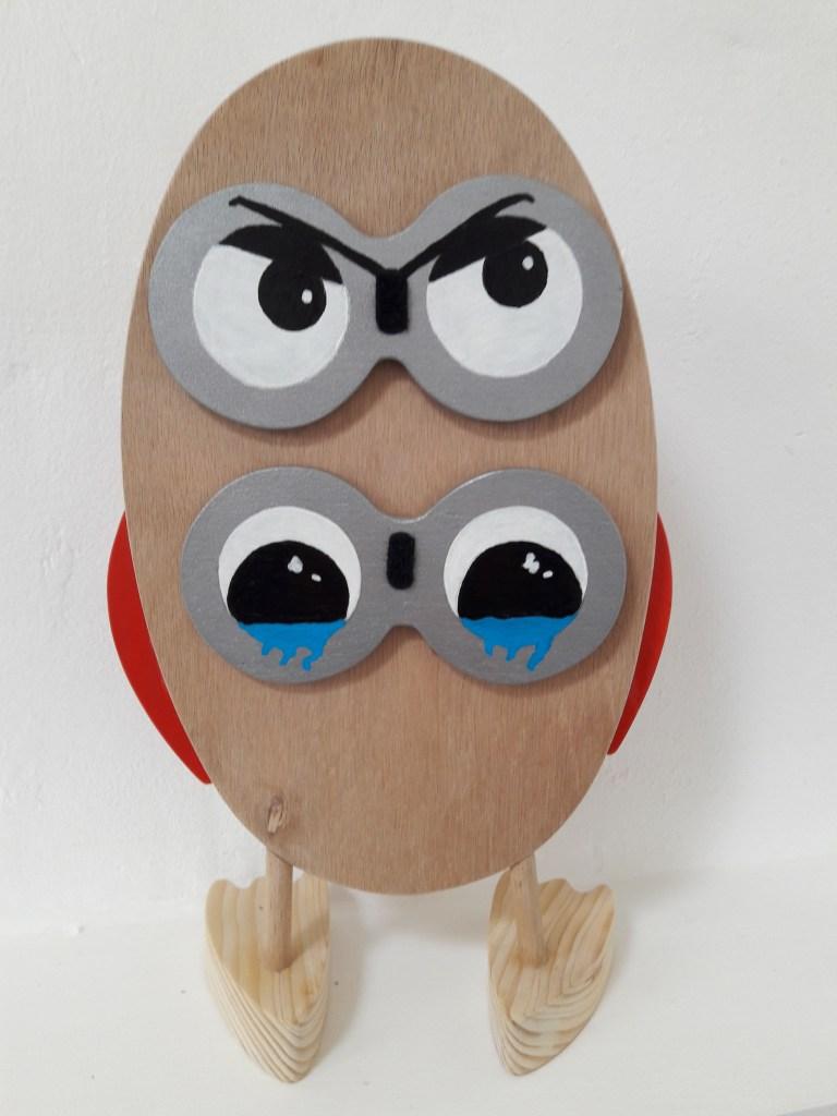 chouette jouet de dos avec stock des yeux interchangeables