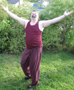 (all right – so this is a photo of me dancing a spontaneous happy Snoopy dance)