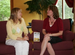 Authors Kerrie and Jenny at the WRITE AWAY book launch.