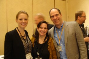 Michelle (center) with KWL's US Manager Christine Munroe and Director Mark Lefebvre.