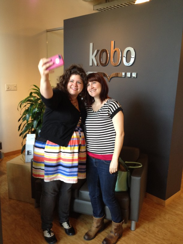 Rainbow and Faith take a selfie at Kobo moments after meeting for the first time