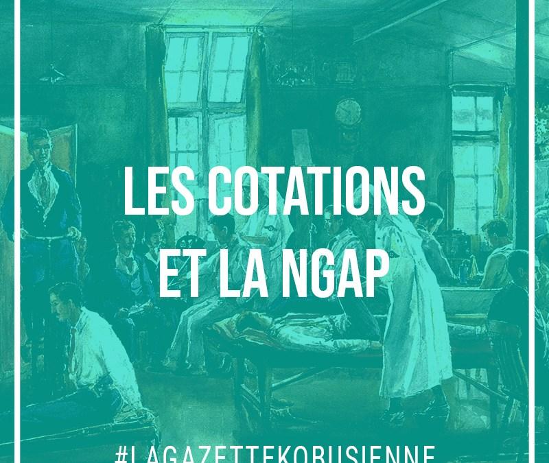Les cotations et la NGAP