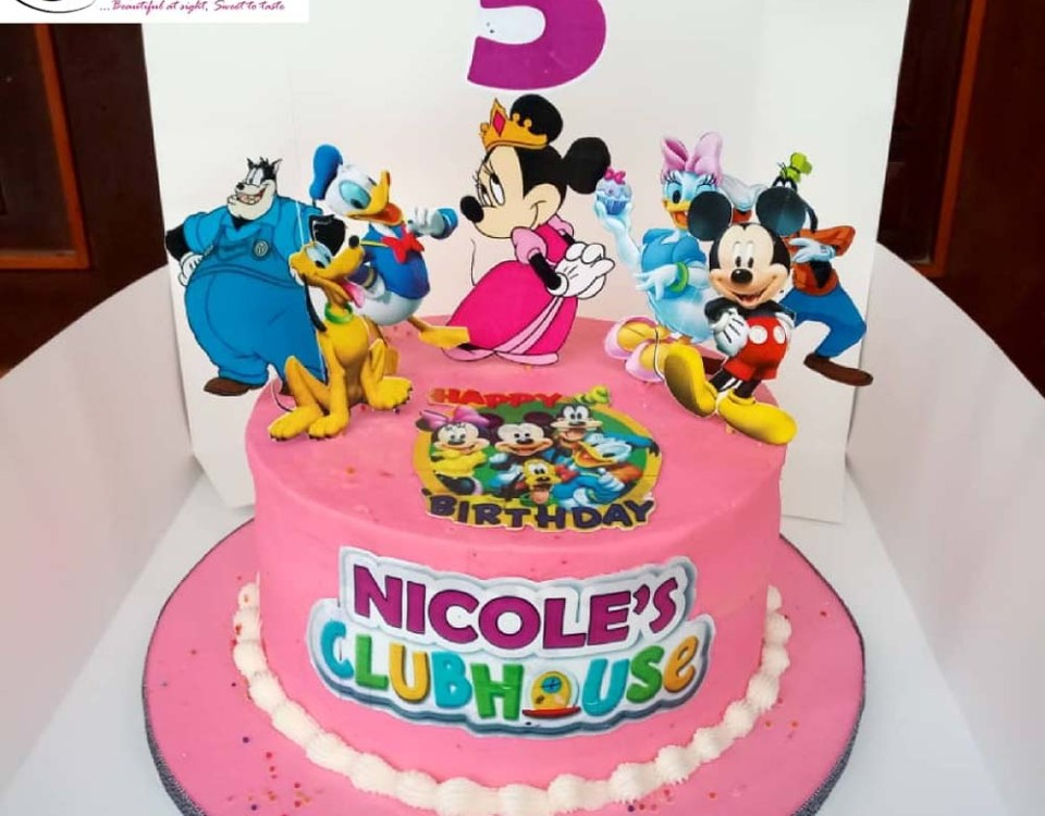 Clubhouse Birthday Cake