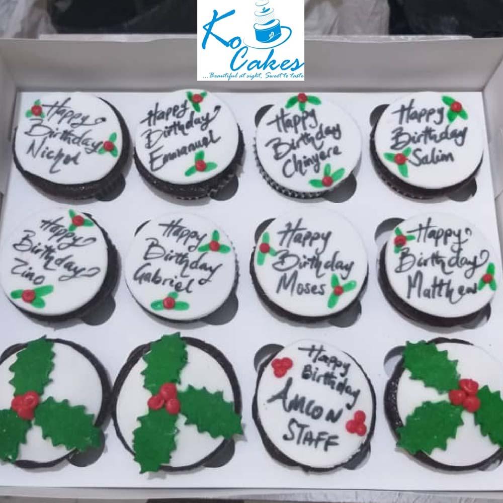 Christmas Themed Corporate Cupcakes