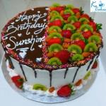 Fruit Themed Birthday Cake
