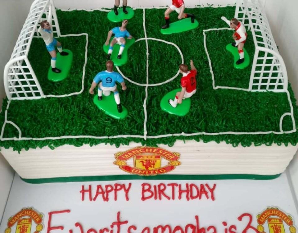 Manchester United Football Field Birthday Cake