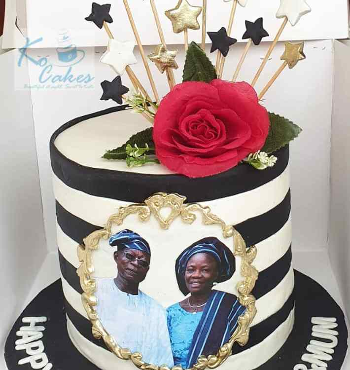 Double Celebration Birthday Cake