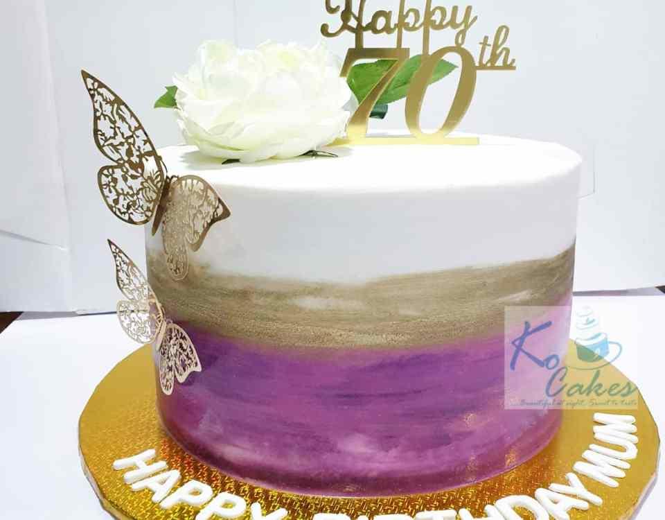 Pallete design cake