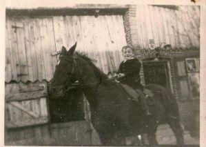 Horst na swoim ulubionym koniu