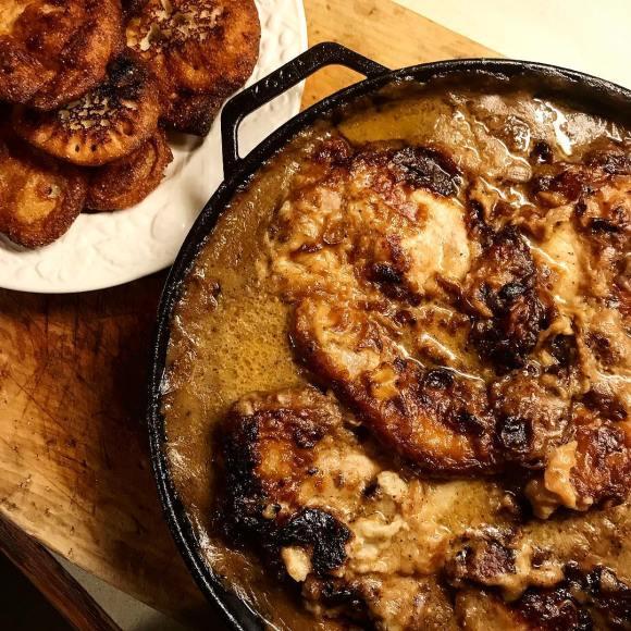 Kochcookware No 305 Southern Smothered Pork Chops with Buttermilk Gravy Recipe