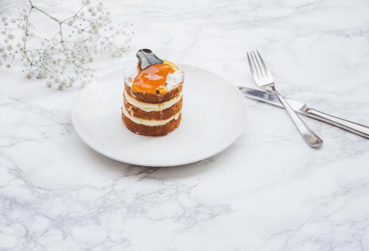 Drei-Schicht-Dessert