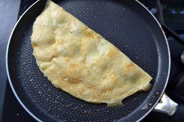 Omelette mit Minze und Brocciu kochen aus liebe