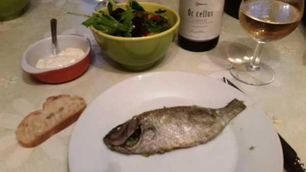 Dorade im Salzmantel - Sellerie Blättern und Meersalz  kochen aus liebe