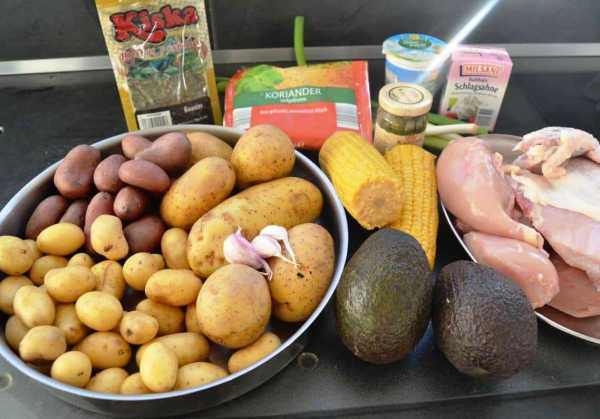 Zutaten Hühnereintopf kolumbianisch Ajiaco