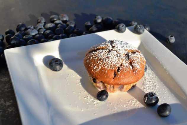 Blaubeermuffins mit Blaubeeren kochen aus liebe