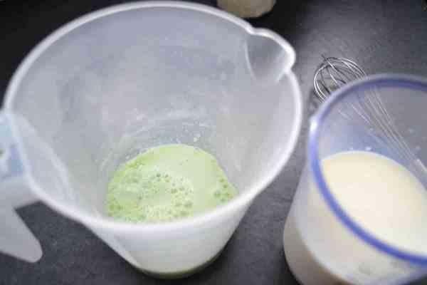 Milch und Pistazien Puddingpulver