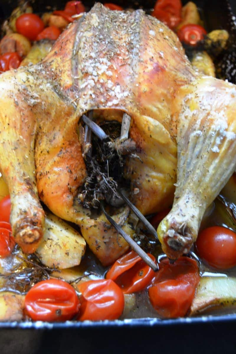 Kikok Hähnchen Rezept mediterran mit Pastis