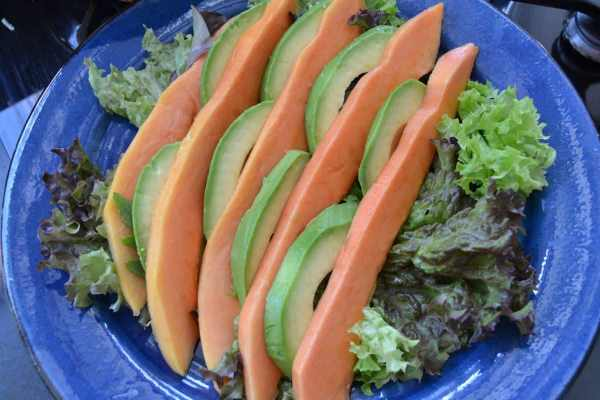 Papaya, , Avocado Salat,