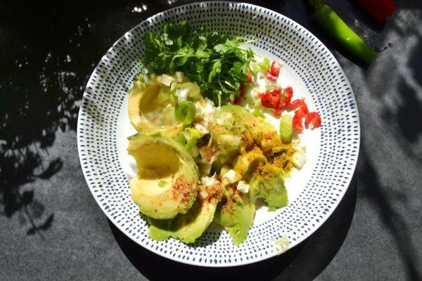 Avocado , Koriander , Chili , Lauchzwiebel , Colombo