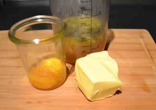 Estragon Fischfond , Butter , Eigelb