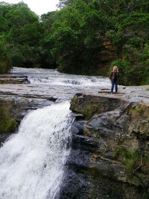 Colombia Villa de Leyva - die Kaskade Periquera