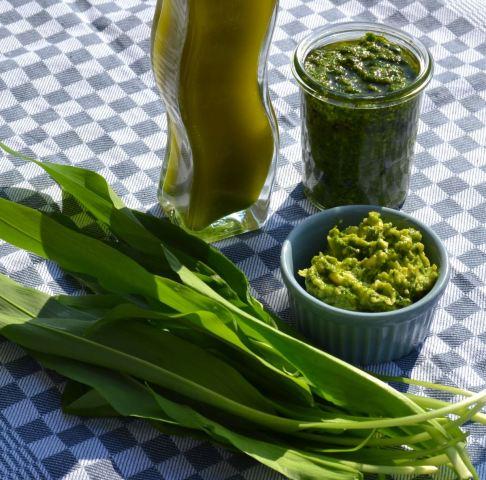 Bärlauch Pesto - Öl und Butter