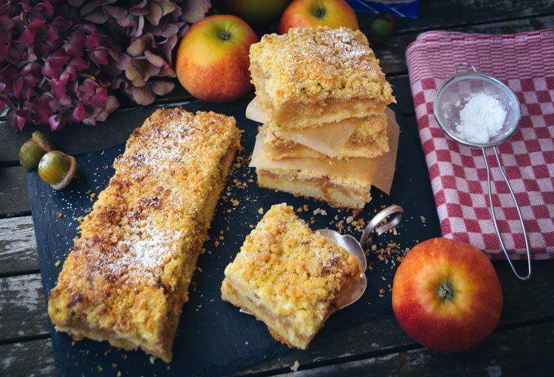 Omas Apfel-Sreuselkuchen vom Blech