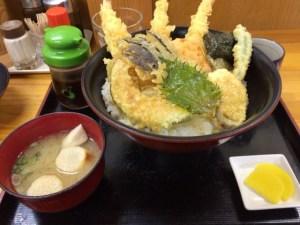 【えび天丼】高知城近くでお腹いっぱい食べたいなら昔ながらの「尾木食堂」がおすすめ