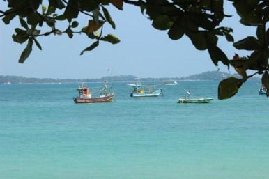 Fischerboote in Mirissa
