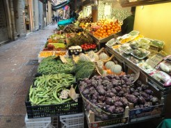 Marktstand in Bologna