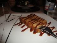 Feines Dessert aus Amarettini, Panna Cotta und Amaretto
