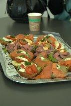 Unser Mittagssnack - Danke an Birkel für die leckeren Häppchen