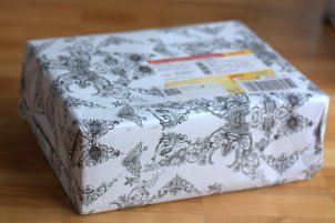 Sehr hübsch verpackt, kam das Päckchen bei mir an
