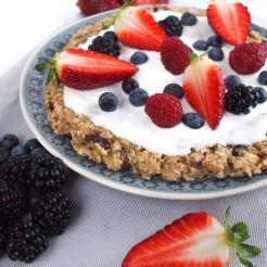 25 Pizza-Cookie mit Joghurt & Früchten