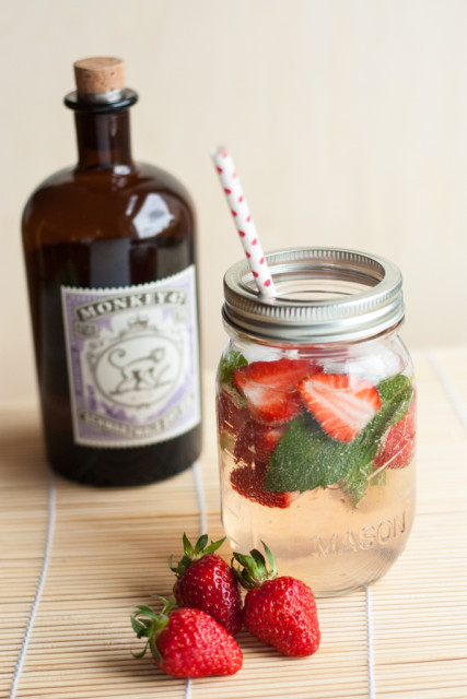 Strawberry Gin Smash Erdbeer 1