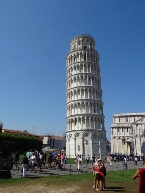 Hier nochmal in voller Pracht: Der schiefe Turm von Pisa
