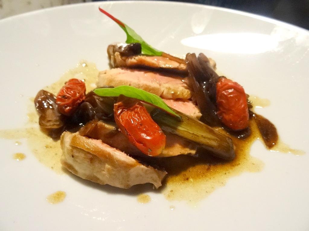 Geschmorte Ente mit Grillgemüse (Boanamico, Viareggio)