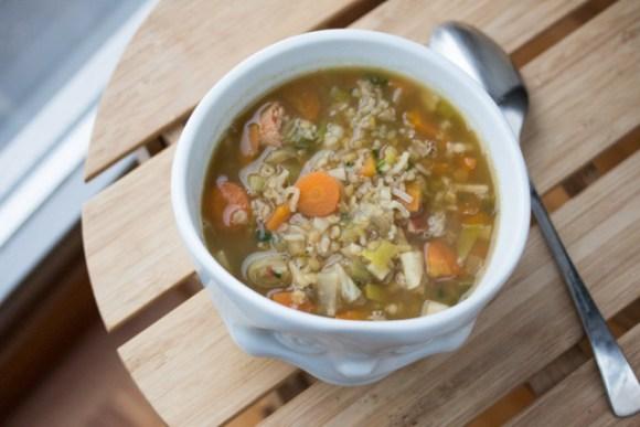One Pot Reis-Gemüse-Boullion mit Ingwer 5