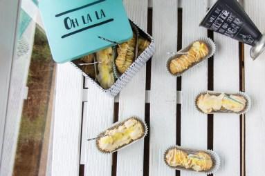 Sommerliche Eclairs mit cremiger Lemon Curd-Füllung 14