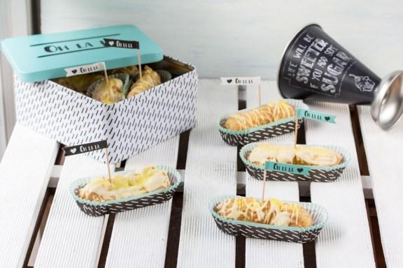 Sommerliche Eclairs mit cremiger Lemon Curd-Füllung 5