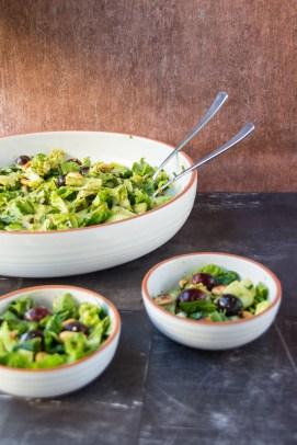 Römer-Salat mit Trauben und Erdnüssen 7