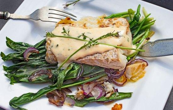 Fisch mit Schaumkraut-Hollandaise