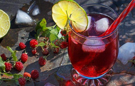 Waldhimbeer-Cocktail