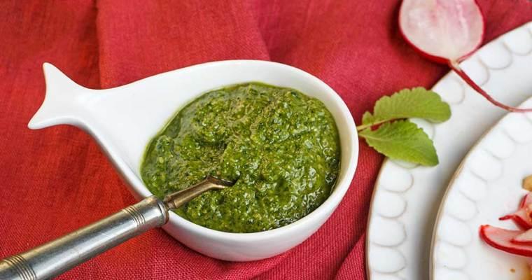 Radieschengrün-Pesto