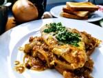 französisches Zwiebelhühnchen überbacken